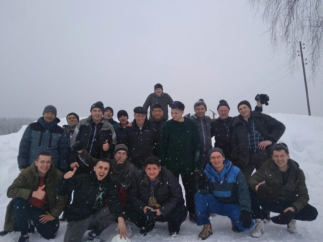 Турнир по зимнему футболу между участниками программы восстановления