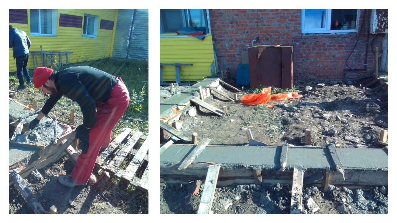 Строительство новой кухни в центре в Лунежках